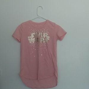 Pink star wars t-shirt